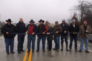 On December 22, 2014 a Ribbon Cutting was held for Br 24 over Opossum Creek in Nowata County.