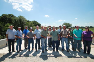 A Ribbon Cutting was held on August 25, 2014 for the recently completed Island Bayou Bridge