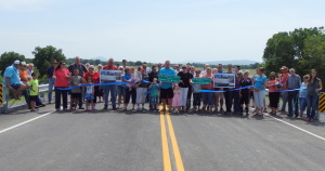On July 1, 2015, LeFlore County dedicated the newly constructed Bridge #71 over Caston Creek to Msgt. Burrus (Poose) F. Martin. Around 50 people were in attendance for the dedication.