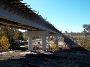 Clear Boggy Bridge Under Construction