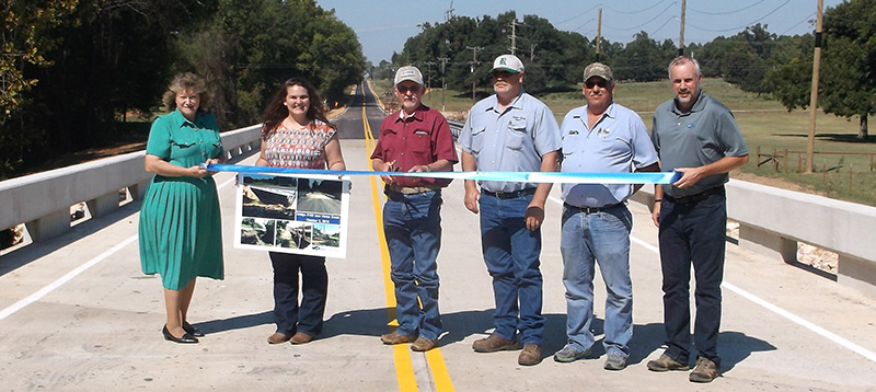 Ribbon Cutting for Bridge 109 over Horse Creek