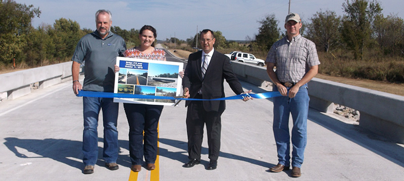 Ribbon Cutting Held for Bridge 12 over Unnamed Creek