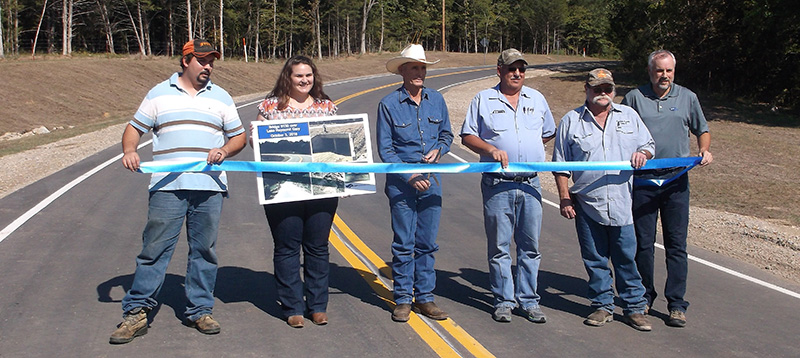 Ribbon Cutting for Bridge 130 over Lake Raymond Gary