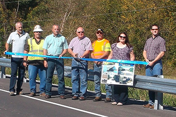 Ribbon Cutting Held for Bridge 63 over Dog Creek