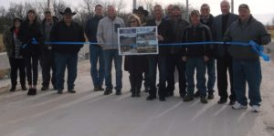 Bridge 91 over Hudson Creek ribbon cutting