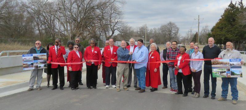 Ribbon cutting for City of Okmulgee bridges