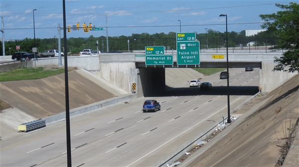 I-244 over Sheridan after bridge rehab
