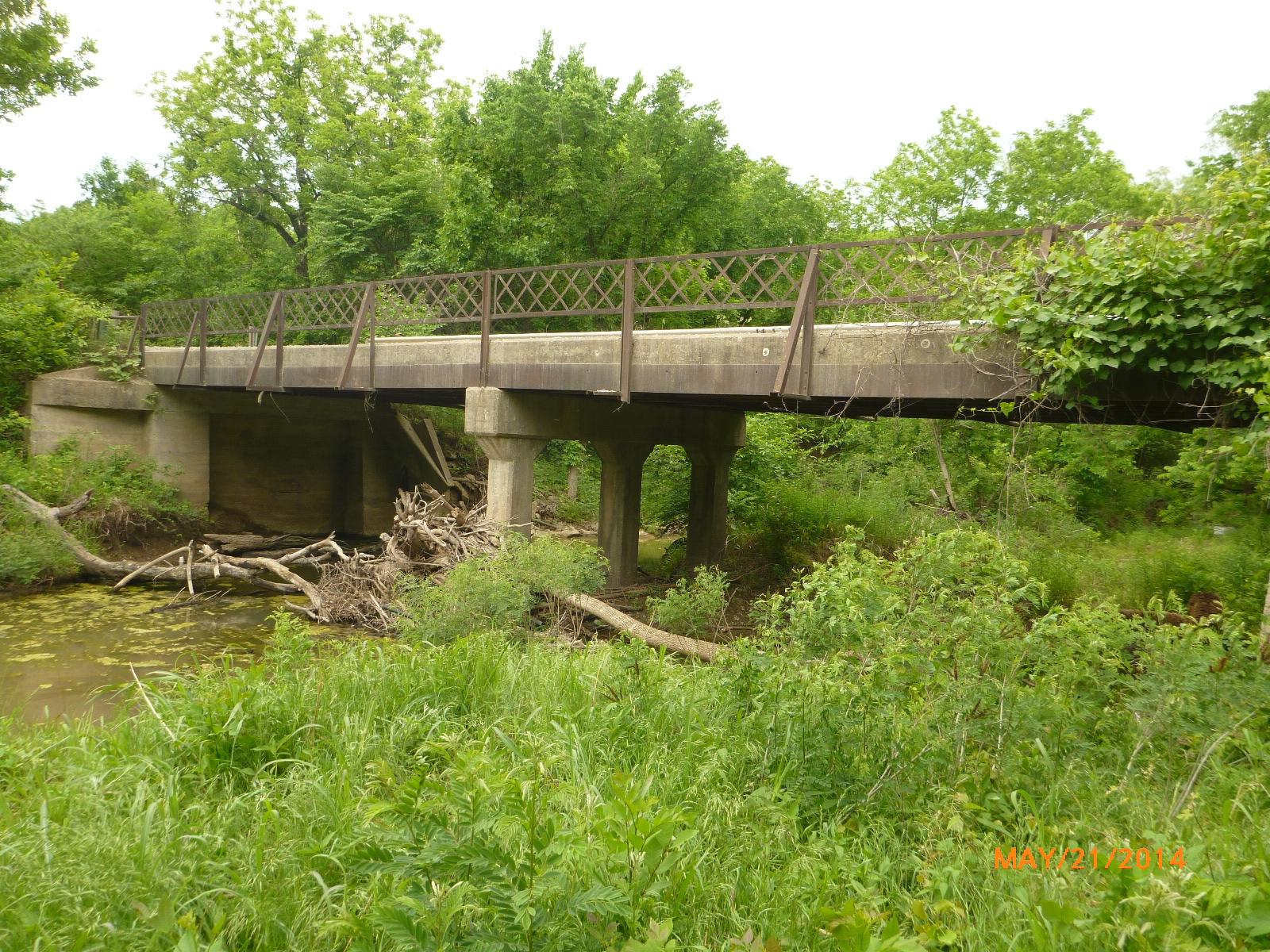 Bridge #69 over Curl Creek before
